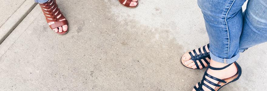 chaussure été